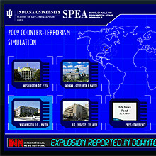 Counter-Terrorism Simulation Live Video Dashboard